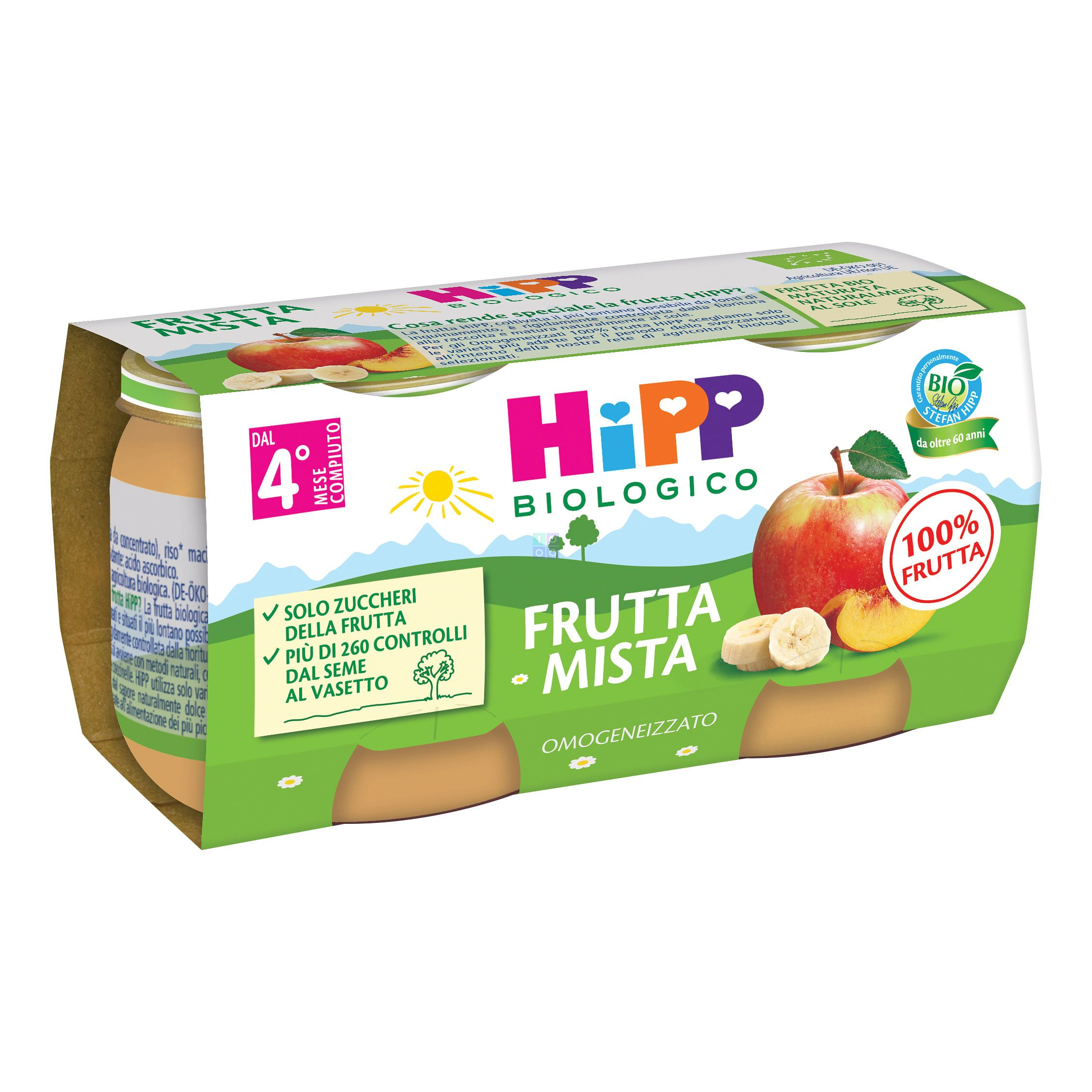 HIPP OMOGENIZZATO FRUTTA MISTA 2X80G